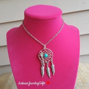 Sterling Silver Dreamcatcher Gemstone Necklace
